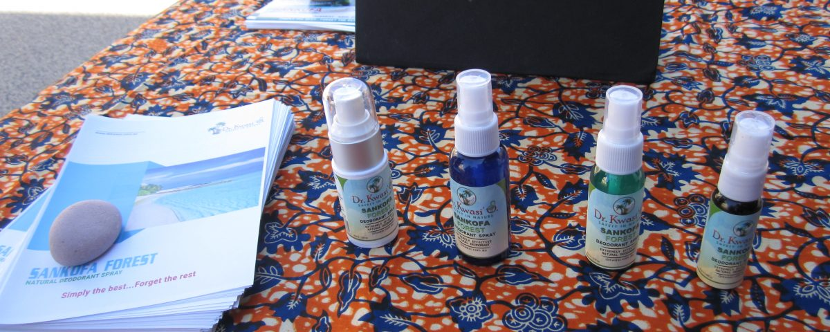 Sankofa Forest Natural Deodorant on display at the launch